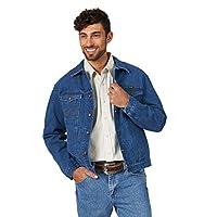 Wrangler Men's Western Style Unlined Denim Jacket, Midstone, Large