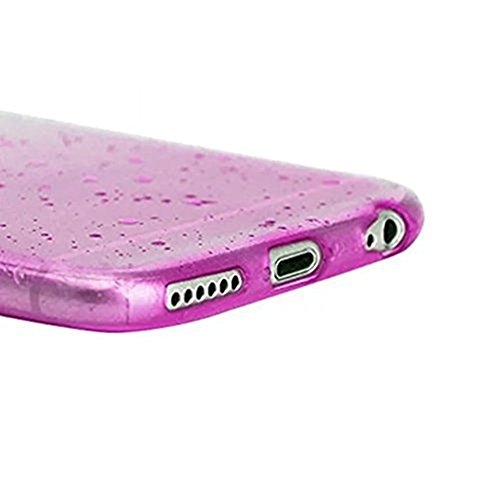 iPhone 5/5S custodia, iPhone se cover, Ticase ultra slim custodia flessibile in silicone gel 3D RainDrop Waterdrop pattern anti-graffio caso Gradient color copertura Shell paraurti di protezione scher Rose