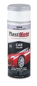 PlastiKote 1004 Universal White Automotive Touch-Up Paint - 11 oz. Color: White