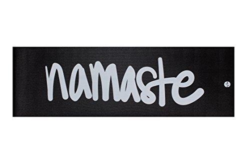 Mantra inspiriert Professional Yoga Matte von AJ Love | Hand entworfen | High Dichte, Black - Namaste Mat - Yoga-matte Nicht Giftig