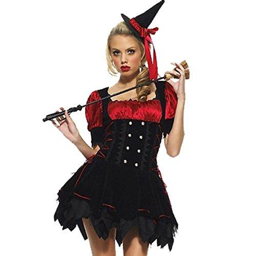 Nihiug Hexe Kleidung Harry Potter Vampire Anzüge Halloween Masquerade Sexy Kostüm Menschliches Skelett Schreckliches (Potter Uniform Harry Kostüm)