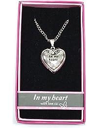 En Mi Corazón Nombre personalizado amor Lockets/colgantes con imagen soporte presentado a la perfección por ley Effectz