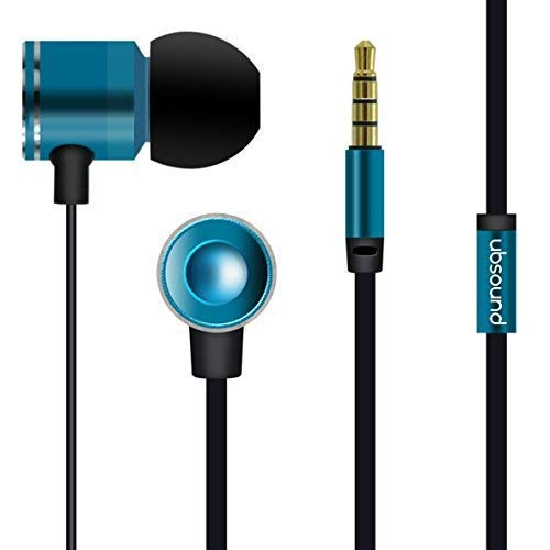 UBSOUND Fighter PRO HD Grigio Cuffie Auricolari In-Ear Alluminio con Microfono e Jack standard 3,5mm Cavo Piatto Antinodi Garanzia 2 anni. IEM per Smartphone Iphone PC Game Tablet Mp3 Idee Regalo