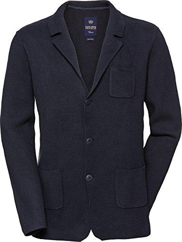 Dunkelblaue Italienischer Anzug (Franco Bettoni Herren-Strickjacke Sakko - Baumwoll-Strick in Dunkel Blau, Business- und Freizeitjacke für Männer, gut kombinierbar, Gr. 48 - 60)