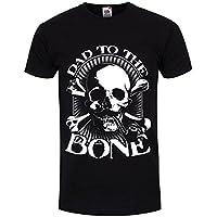 T-Shirt Dad To The Bone da uomo in nero