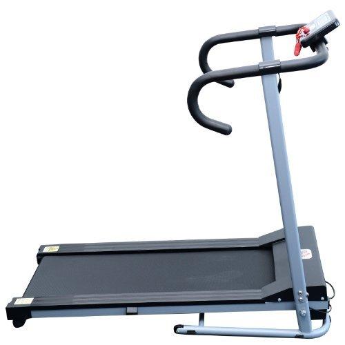 Homcom Laufband Elektrisches Fitnessgerät Klappbarer Heimtrainer mit LCD-Display 150 kg Belastung 500 W, schwarz-silbergrau, B1-0097 - 3