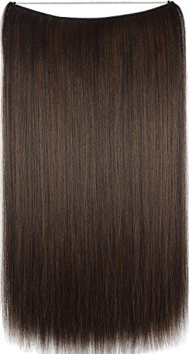 Topreety 61cm 100gr halo estensioni dei capelli elastico invisibile filo attaccato