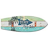 Decoración mural, diseño de tabla de surf con texto en inglés para colgar en la