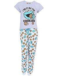 Sesame Street Pijama Azul y Gris. El Monstruo de Las Galletas