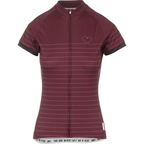 Maloja Kathleen 1/2T-shirt à manches courtes pour femme rouge bordeaux