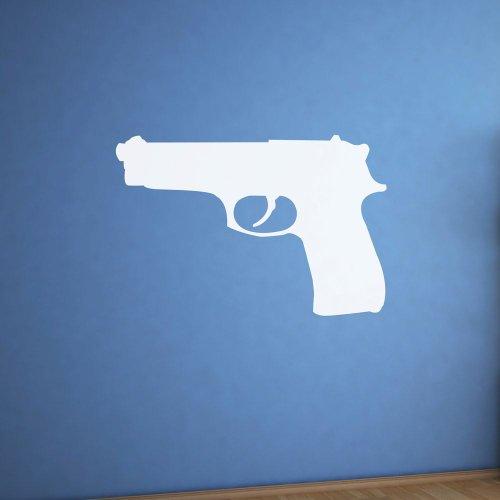 (Supertogether Pistole Trocken abwischbar Whiteboard Kinderzimmer Spielzimmer Wand Aufkleber, weiß)