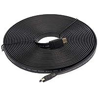 كابل مسطح اتش دي ام آي 10 متر- 1080P- إصدار 1.4، أسود