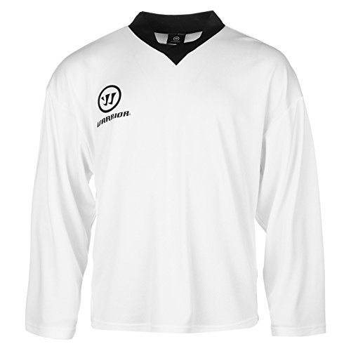 Warrior Herren Practice Training Trikot V Ausschnitt Langarm Eis Hockey Shirt Weiss XX Large