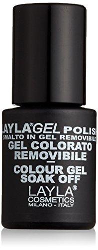 Layla Cosmetics Laylagel Polish Smalto Semipermanente per Unghie con Lampada UV, 1 Confezione da 10 ml, Tonalità Black