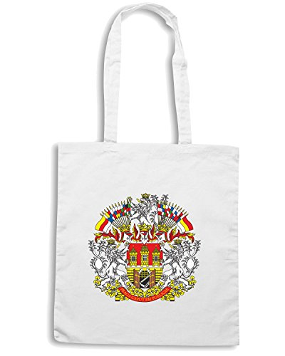 T-Shirtshock - Borsa Shopping TM0116 Prague emblem citta Bianco