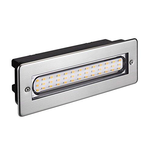 parlat LED lampada per scale lampada da incasso a parete da esterno angolare 20x7cm 230V bianca calda