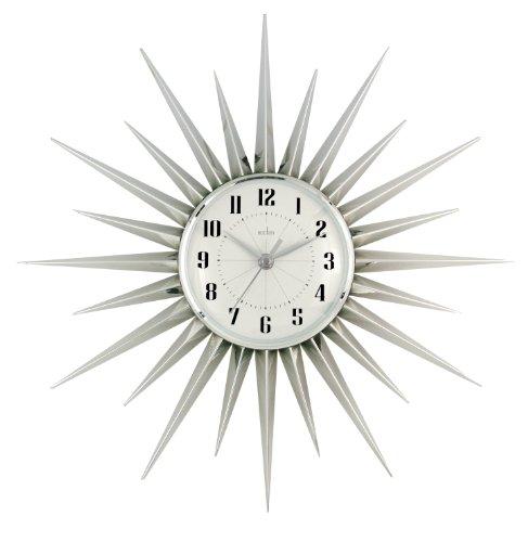 acctim-21767-stella-starburst-wall-clock-silver