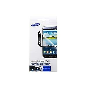 Samsung Original 2x Displayschutzfolie inkl. Reinigungstuch und Blasenspachtel ETC-G1G6BEGSTD (kompatibel mit Galaxy S3 / S3 LTE) in black frame