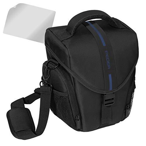 PEDEA SLR-Kameratasche mit Displayschutz für Sony SLT-A58K, Alpha 68 / Canon EOS 80D / Pentax K-70 / Panasonic Lumix DMC-FZ1000 (Größe L), blau