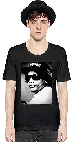 Eazy-E Vintage Portrait Short Sleeve Mens T-shirt Large (Eazy E Compton Hat)