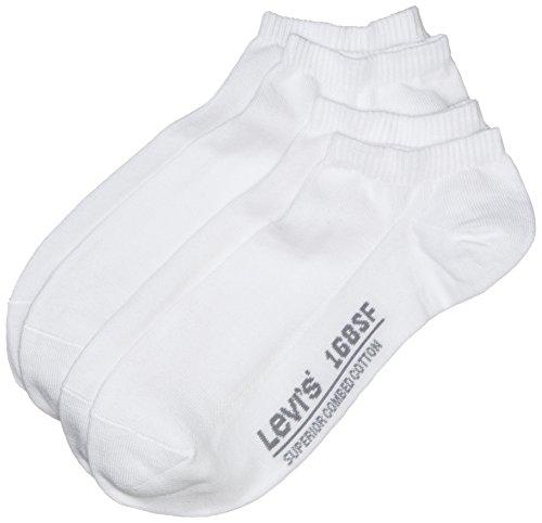 Levi's Herren Sneakersocken 168SF LOW CUT 2P, 2er Pack, Gr. 43/46, Weiß (white 300) (Plain Low-cut)