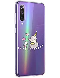 Oihxse Animal Serie Case Compatible con Motorola Moto G7 Plus Funda Transparente Suave Silicona Elefante Conejo Patrón Protector Carcasa Ultra-Delgado Creativa Anti-Choque Cover (A15)