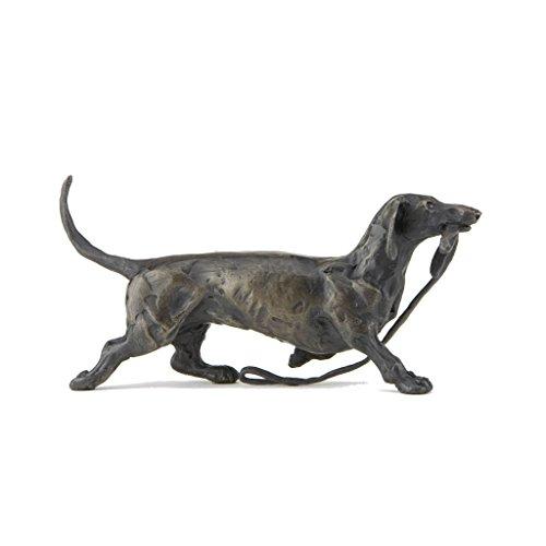 Bronze Hund Skulptur: Traben Dackel von Sue Maclaurin