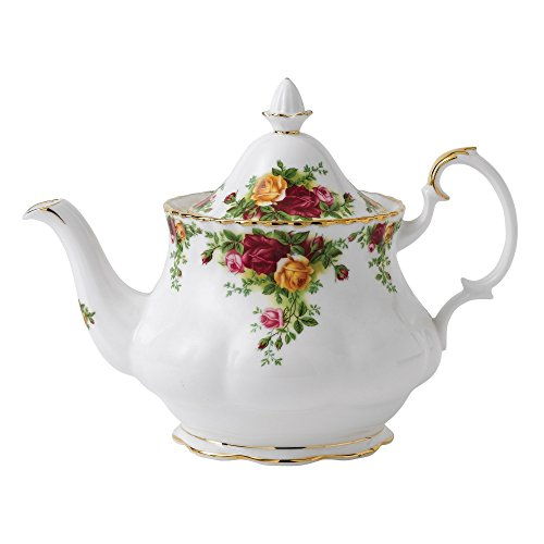 Royal Albert Old Country Roses Teekanne, groß, 1,2 kg (42 Unzen) Tea Pot Gold Old Country Roses Bone China