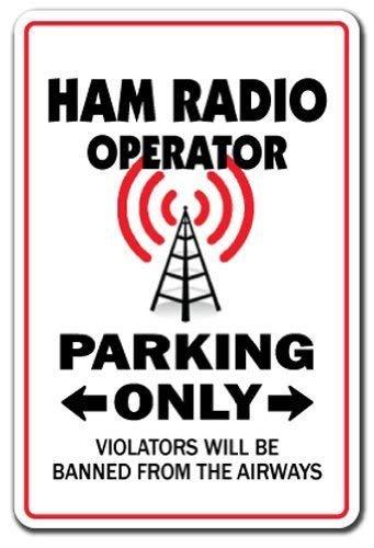 WSMsign Ham Radio Operator Parkschild Lustige Amateur-Qsl Call Shack Warnschilder für Gefahrenhaus, Hausdekoration, Hof, Warnhinweis, lustige Metallschilder, 8x12