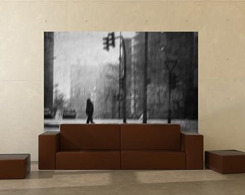 """Vlies Fototapete """"Morgen in Hamburg Retro - schwarz weiss"""" 100x65 cm - inklusive Kleister - Tapetenkleister – Bild auf Tapete – Bildtapete – Foto auf Tapeten – Wand – Wandtapete – Vliestapete – Wanddeko - Design"""