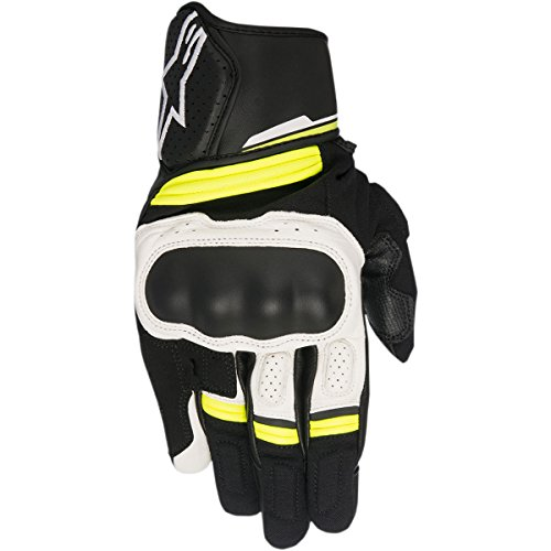 Alpinestars–Guantes Moto Booster Negro Blanco Amarillo Fluo–XL