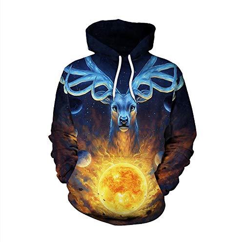 shopMatrix - BHYDRY Christmas Mens Sweatshirt Couple Hoodies 3D Print Long Sleeve Pullover Top