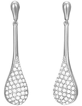 ESPRIT Damen-Ohrhänger Atropia Messing rhodiniert Zirkonia weiß Rundschliff
