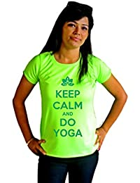 LetsFlaunt Keep Calm and Do Yoga T-shirt T-shirt Girls Green Dry-Fit Nw