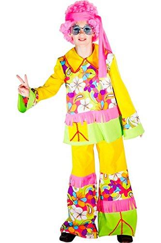 Unbekannt Kostüm Boy Hippie Flower–4/5Jahre Aptafêtes–cu200105/116–Größe ()