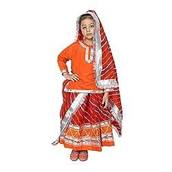 Shri Nikunj Raangoli Rajasthani Girl dress/costume for kids