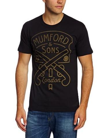 Bravado T-shirt Imprimé musique et film Homme - Noir - Noir - FR : L (Taille fabricant : Large)