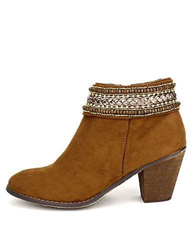 Cendriyon, Bottine peau cuir marron RIAJO Chaussures Femme