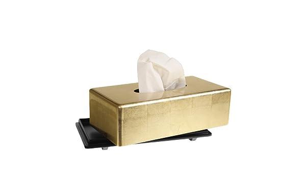 Attraktive Robuste Raum Ordentlicher Fall Serviette Lederhalter Auto Automotive Dekoration Packungsinhalt Leder Haushalt B/üro Tissue Box Papierhalter Papierhalter Rechteckige Tissue 1 PCS Gold
