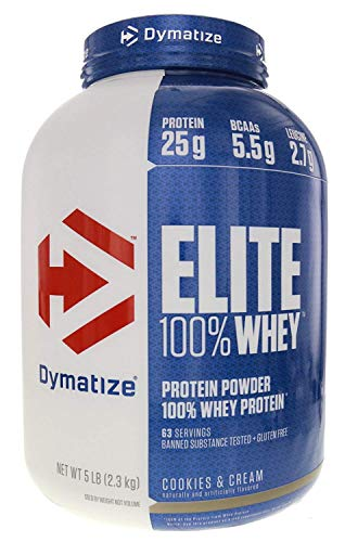 Dymatize Elite Gourmet Whey Protein Cookies and Cream, 1er Pack (1 x 2.3 kg) -