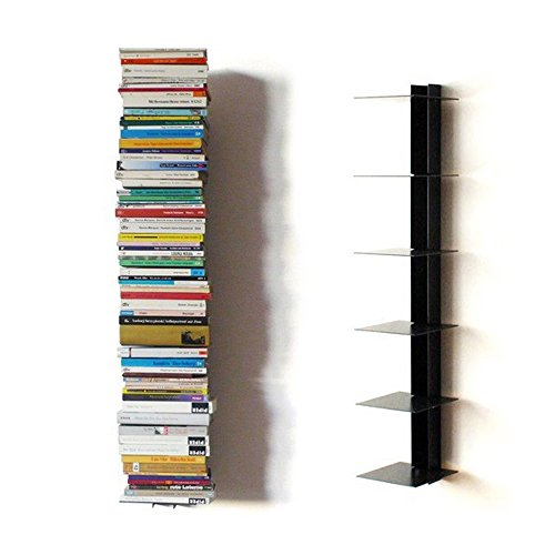 Haseform Bücherturm 90 cm (für 1 m Bücher) anthrazit Bücherregal Wandregal -
