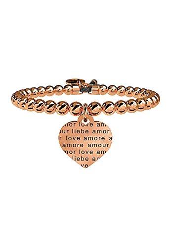 kidult-bracciale-in-acciaio-316l-pvd-rose-con-ciondolo-cuore-amore-senza-confini-cod-731052
