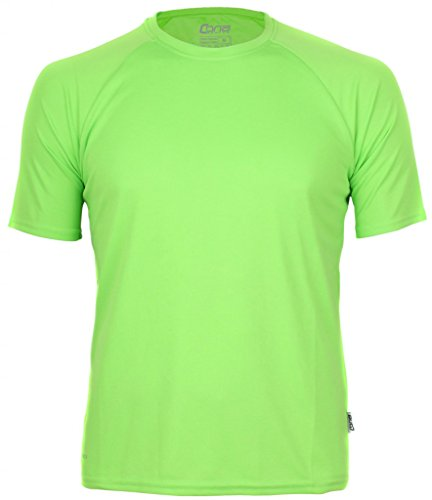 Basic Funktions - Sport T-Shirt in vielen Farben Farbe Lime Green Größe L