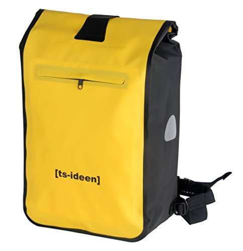 ts-ideen 12205 Sacoche Guidon Porte-bagages Grand sac imperméable jaune