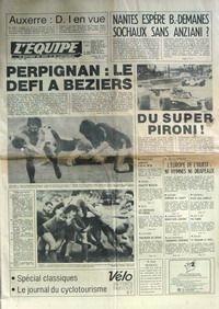 EQUIPE (L') [No 10567] du 05/05/1980 - AUXERRE - D1 EN VUE - NANTES ESPERE B.-DEMANES SOCHAUX SANS ANZIANI - PERPIGNAN - LE DEFI A BEZIERS - DU SUPER PIRONI - J.O. - L'EUROPE DE L'OUEST - ATHLETISME - SANFORD - BASKET - OMSCOU - BOXE - LES RODRIGUEZ - CYCLISME - VERLINDEN - ESCRIME - JEANTY - GYM - HALTEROPHILIE - TARANENKO - VOLLEY - SOUDAN - HAND - STATU QUO COMPLET - JEU A XII - PIA. par COLLECTIF
