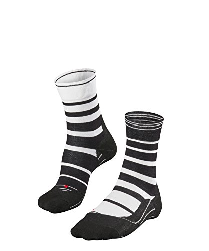 FALKE Herren Socken Laufsocken RU4 Stripe - 1 Paar, Gr. 44-45, weiss, feuchtigkeitsregulierend, Sportsocken Running -