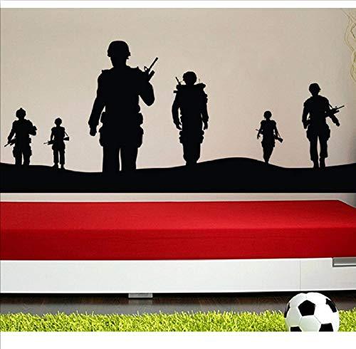 CQAZX Armee Solider Wandtattoo Wohnkultur Vinyl Poster Military Armee Männer Wandbild Abnehmbare Teenboys Schlafzimmer Dekor Tapete 138 * 56. cm