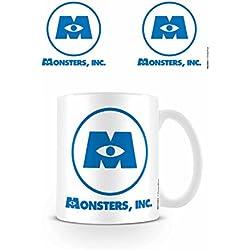 "Disney Pixar Monsters Inc Logo ""taza de cerámica, multicolor"