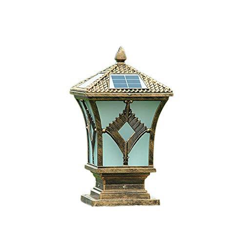 Hai Ying ♪ Solar-säulenscheinwerfer super helle Wasserdichte außen Post Laterne Outdoor Garten Lampe Villa tür spalte Lampe straßenlaterne ip44 ♪ -
