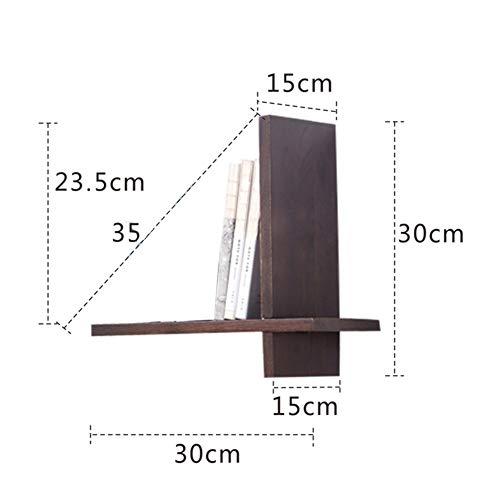 Liangliang mensole da muro scaffale fisso a sospensione espositore multifunzione in rovere semplice e moderno, 2 colori (colore : brown, dimensioni : 30x15x30cm)